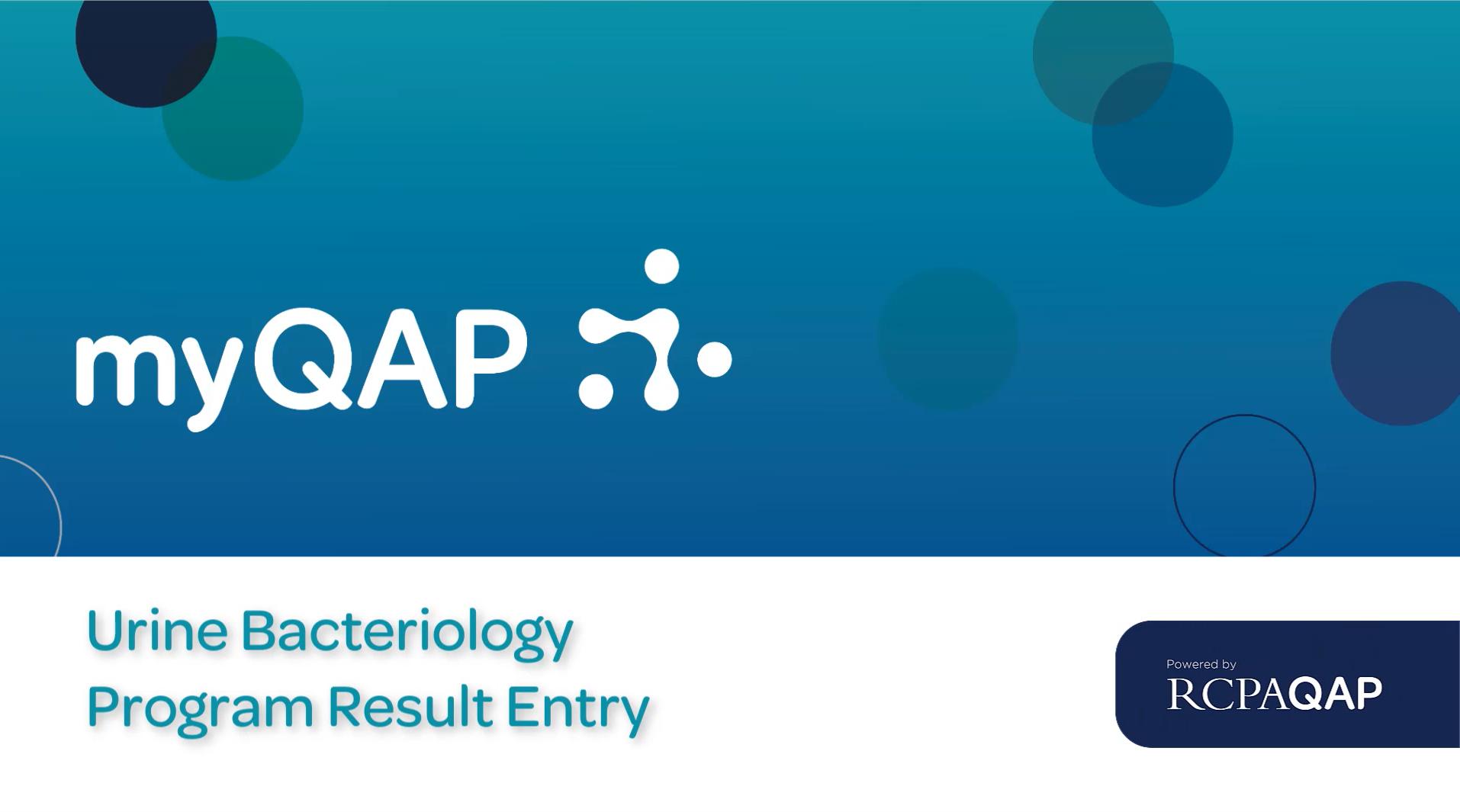 UPDATED – Urine Bacteriology Program Result Entry