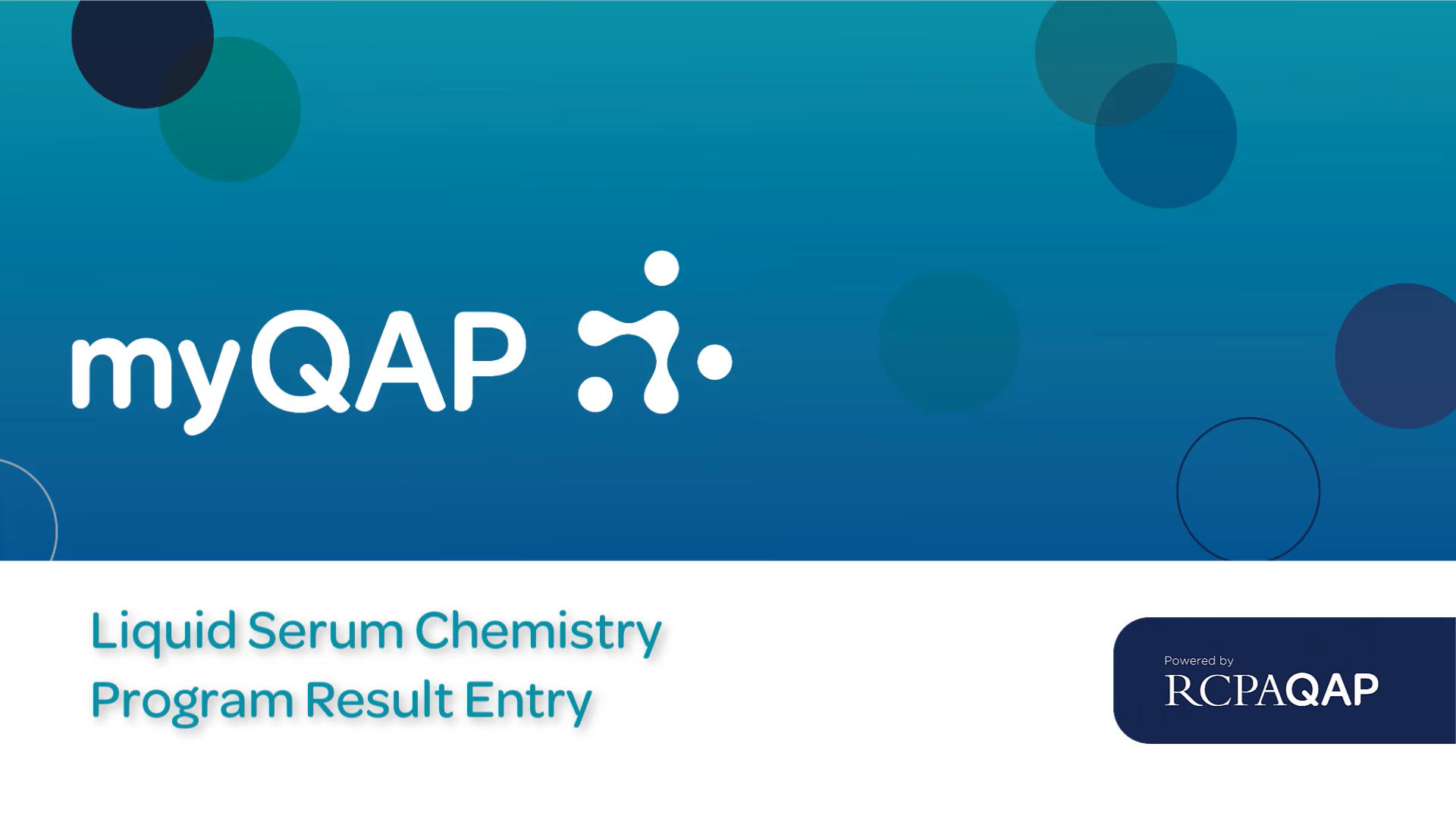 Liquid Serum Chemistry Result Entry
