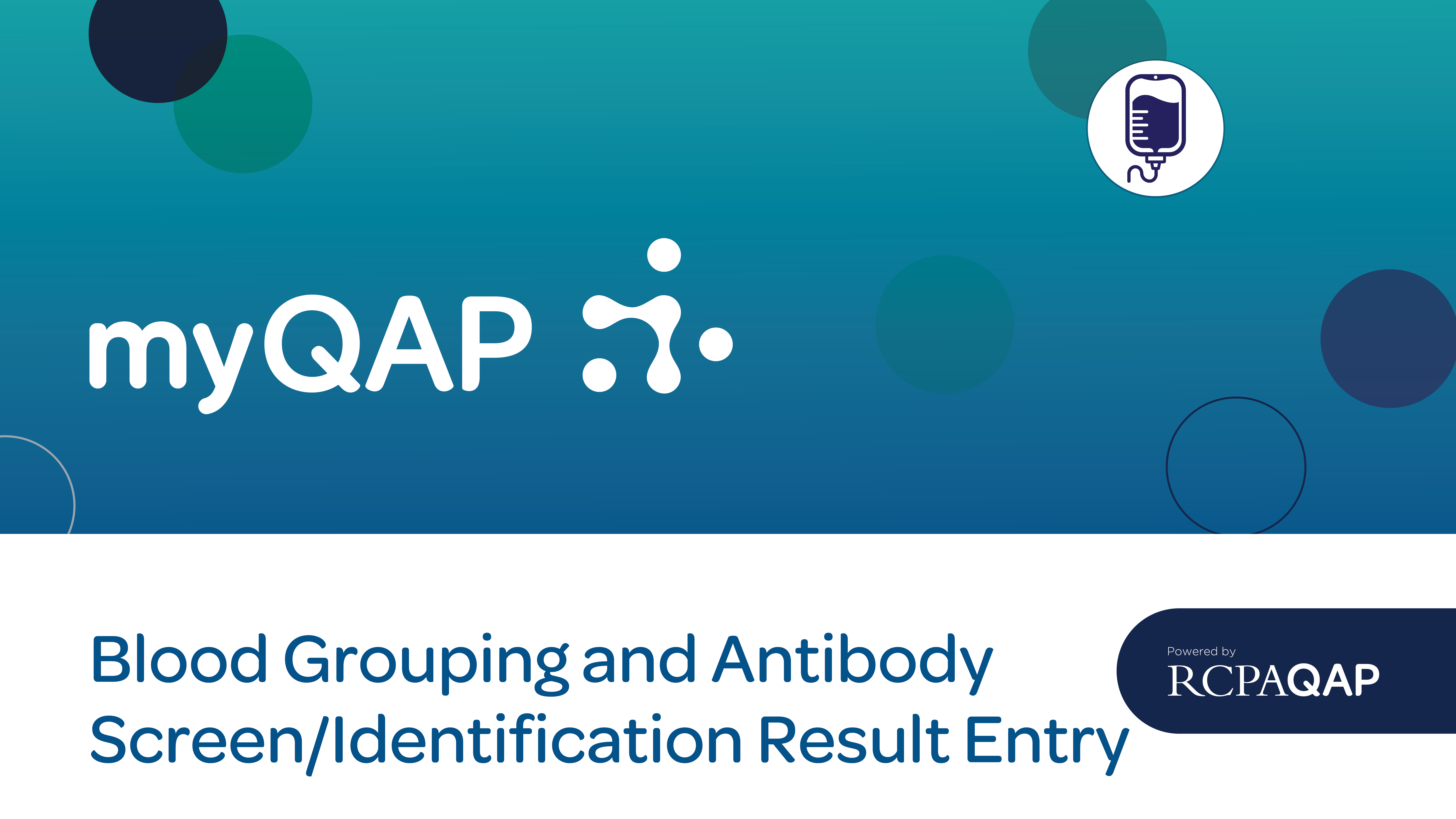 Blood Grouping and Antibody Screen/Identification Result Entry