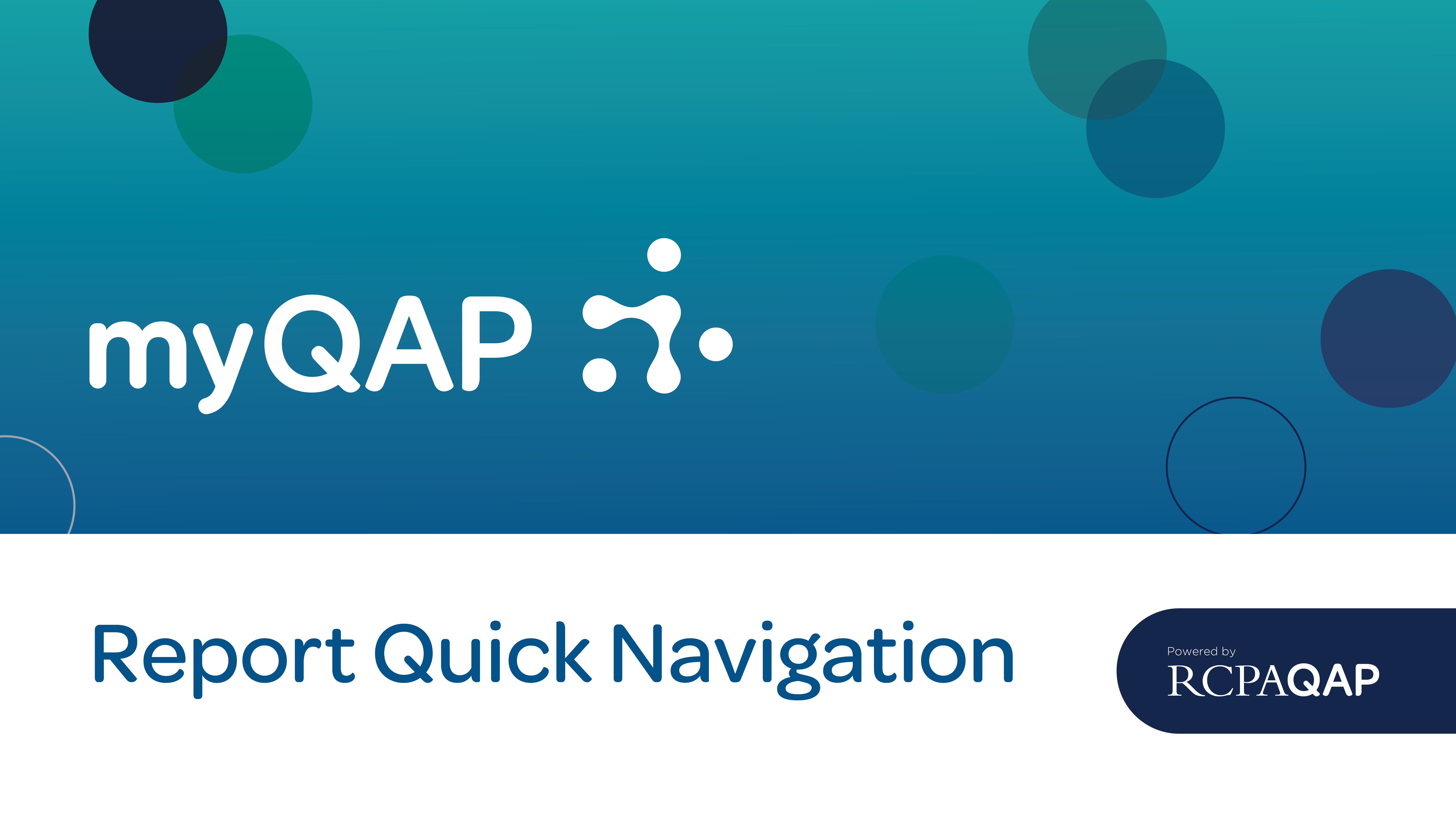 Report Quick Navigation